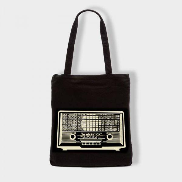 Bolsas Bolsa de tela «Radio» en color negro