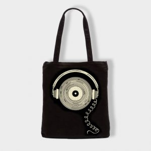 Bolsas Bolsa de tela «Musica» en color negro
