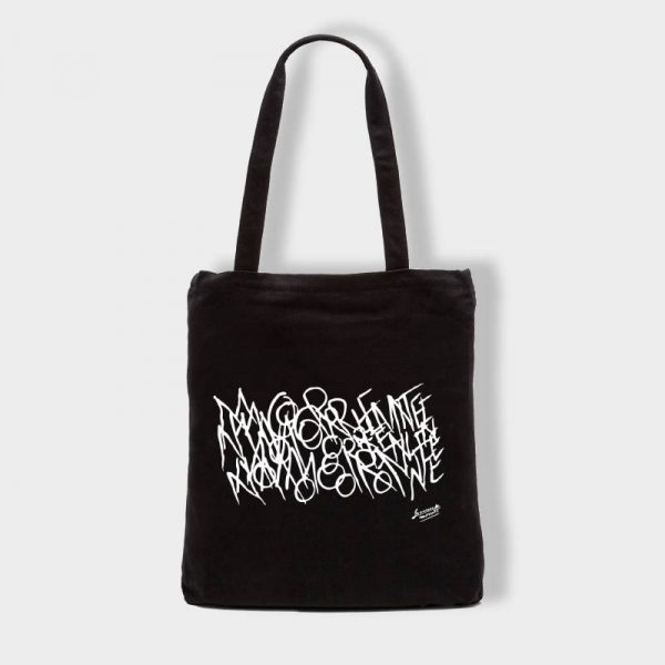 Bolsas Bolsa de tela «Morente Letras» en color negro