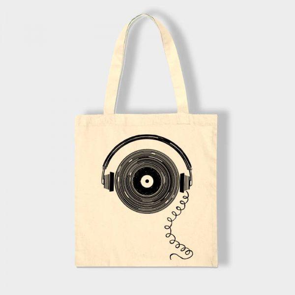 Bolsas Bolsa de tela «Musica» en color natural