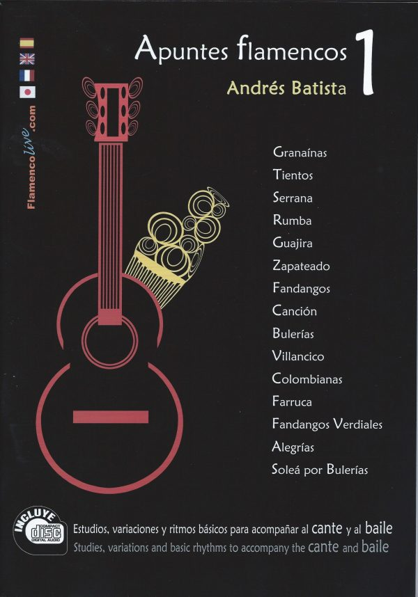CD Andrés Batista – Apuntes flamencos vol. 1 (Libro + CD)