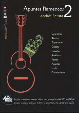 CD Andrés Batista – Apuntes flamencos vol. 2 (Libro + CD)
