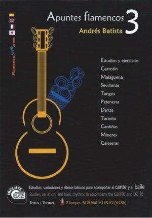 CD Andrés Batista – Apuntes flamencos vol. 3 (Libro + CD)