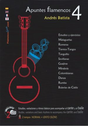CD Andrés Batista – Apuntes flamencos vol. 4 (Libro + CD)