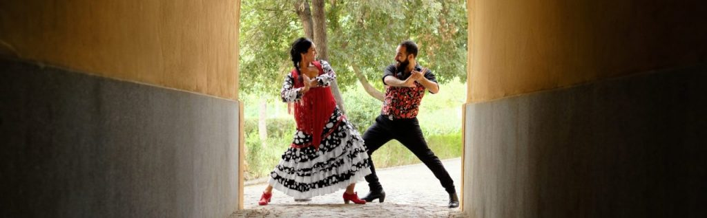 Couple dancing flamenco