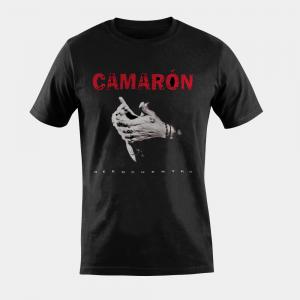 Camisetas Camiseta Camarón de la Isla para Hombre en Negro «Reencuentro»